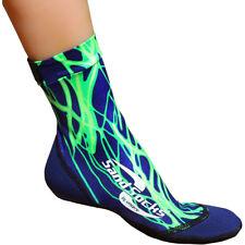 Sand Socks Classic High Top Neoprene Athletic Socks - Green Lightning