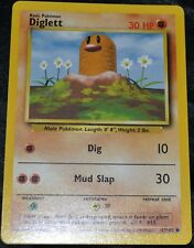 Diglett # 47/102 Unlimited Base Set Pokemon TCG Game Trading Cards Fighting