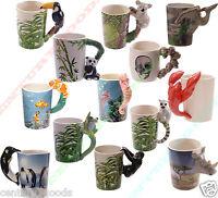 VARIOUS NOVELTY SHAPED HANDLE ANIMAL 3D CERAMIC Coffee |Tea | Mug| Ideal Present