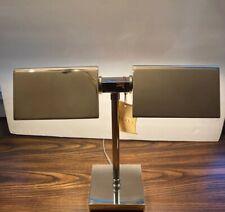 RALPH LAUREN AGATHA O' BANKERS DUAL Double Chrome Silver Banker's DESK LAMP