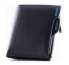 Bogesi PU Leather Bifold Wallet Credit Card Holder for Men's (Black)