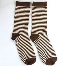 1Pairs Womens Socks Lot Classic Cotton Stripes Casual Dress Socks 20*20cm DWZ65