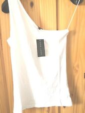 New Look Top Vest White Size 14 Off Shoulder BNWT New With Tags