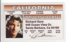 Richard Gere of PRETTY WOMAN and American Gigolo CHIGAGO CA Drivers License