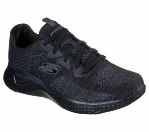 Skechers Black shoe Men Memory Foam Walk Train Sport Comfort Casual Woven 52758
