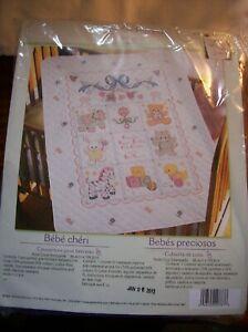 "Bucilla ""Babies are Precious"" #40787 -- Stamped Cross Stitch Craft Kit"