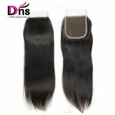 Free Part Lace frontal Closure Virgin 100% Human Hair Straight 4x4 Lace Closure