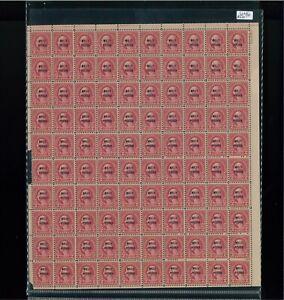 1928 États-unis Envoi Tampon #646 Plaque Numéro 19070 Mint Complet Feuille