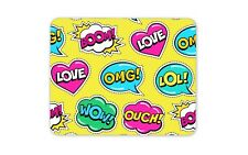 Speech Quotes Boom Love OMG Mouse Mat Pad - Funny Comic Fun Computer Gift #14748
