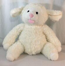 Piccolo Bambino White Lamb Sheep Stuffed Plush Animal Toy Lovey Soft Baby
