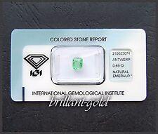 Smaragd mit Zertifikat, 0.69 ct Smaragd-Schliff, Echter Natürlicher Edelstein