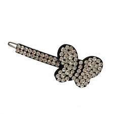 Diamante hair slide butterfly rhinestone sparkly bling jewellery large 018