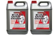 2x BRAKE AND CLUTCH CLEANER ELIMINATES BRAKE SQUEAL 5L (Polygaurd/Polygard)