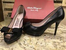 e77ec6207865 Salvatore Ferragamo HEELS PUMPS Stilettos Shoes Size 7 Gilia Leather 0483352