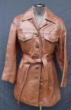 RARE Vintage 1960's Women's WILSONS Brown Leather Jacket  Coat Size 10