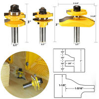 1/2'' Shank Ogee Rail + Stile Raised Cutter Panel Cabinet Door Router Bit Set #V