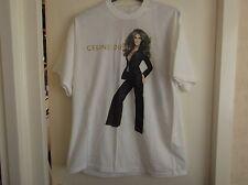 "Celine Dion ""TAKING CHANCES"" 2007 World Tour white concert T-Shirt - new - LOOK!"