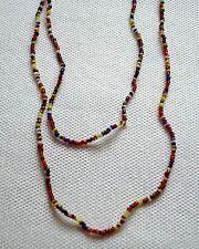 Perlenhalskette mini Perlen bunt extra Lang Halskette Indianer necklace pearls