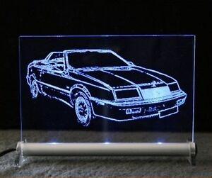 Chrysler Le Baron lebaron als AutoGravur auf LED-Schild