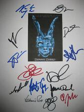 Donnie Darko Signed Movie Script X14 Swayze Gyllenhaal Duval Tisdale reprint
