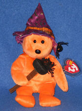 TY PRUNELLA the HALLOWEEN BEAR BEANIE BABY - MINT with MINT TAGS