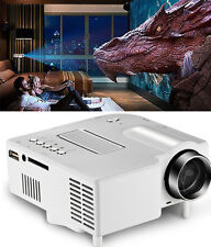 Mini Portable 3D Movie Projector 1080P Home Cinema Theater  HDMI VGA USB SD Card