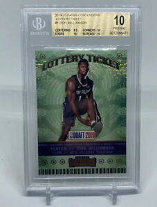 Zion Williamson 2019 Panini Contenders Lottery Ticket BGS 10 Rookie Prizm