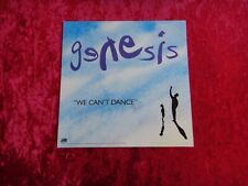 "Genesis ""We Can'T Dance"" Mini Poster Stand Up 90's Rock Memorabilia 1991 Rare"