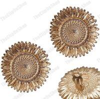 CLIP ON 3.5cm BIG SUNFLOWER EARRINGS matt gold pltd LARGE metal sunflowers CLIPS
