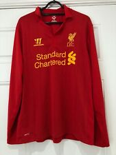 2012-13 Long Sleeved Liverpool Home Shirt - Medium