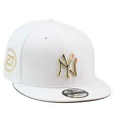 New Era New York Yankees Snapback Hat WHITE/GOLD BADGE jordan 4 retro royalty