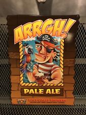 LOST COAST BREWERY CA  ~ ARRGH! Pale Ale ~ Pirate Parrot Beer Advertising Sign