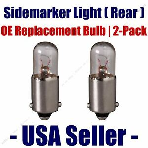 Sidemarker (Rear) Light Bulb 2pk - Fits Listed Delorean Vehicles - 3893