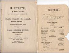 """Zenas Haines (Civil War Composer): Program for """"Il Recrutio"""""""