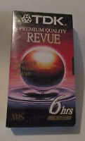 TDK VHS tape T-120 6 hours Revue Premium Quality New Sealed Record Rewind Reuse