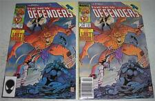 NEW DEFENDERS #152 DIRECT & NEWSSTAND EDITIONS (Marvel 1986) LAST ISSUE (FN/VF)