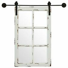 Window Mirror Wall Barn Large Pane Wood Rustic Distressed White Vintage Decor