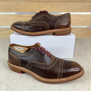 Allen Edmonds Stranmok Brown Leather Dainite Sole Dress Shoes Mens Size 8.5
