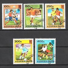 Football Azerbaidjan (61) série complète 5 timbres oblitérés