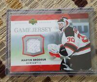 Martin Brodeur New 2007-08 Upper Deck Game Jersey Series 1 #J-MB Devils Card