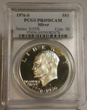 (4) 1976S $1 SILVER PROOF EISENHOWER DOLLAR BICENTENNIAL PCGS PR69DCAM LOT of 4