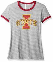 J America NCAA Mens Iowa State Cyclones Classic Heather Long Sleeve Tee Garnet Large