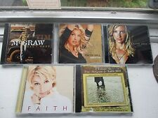 Lot of 5 CDs Faith Hill Tim McGraw Breathe/ Cry/ Faith/ All I Want/ + A Tribute