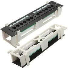 12 Port Rj45 CAT5e Ethernet 110 Network Mini Patch Panel Rack Wall Mount Bracket