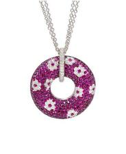 CLEARANCE!! $16,500 RARE 18KT LRG RUBY AND DIAMOND ROBERTO COIN PENDANT NECKLACE