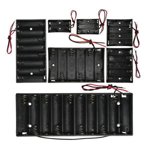1PC 2x 3x 4x 5x 6x 8x 10x AA Battery Holder Case Box With Lead Organizer Storage