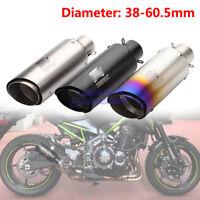 Motorcycle ATV Stainless Steel Exhaust Muffler Pipe Slip on Tail Pipe 38-61mm