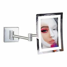 GURUN Frameless Bright LED Lighted 3X Magnifying Wall Makeup Mirrors Rectangle