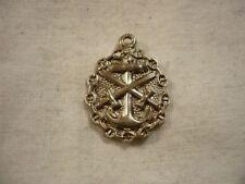 Abzeichen Von Anno Bis Dato Aus Silberfarbendem Metall Ruf Zuerst Deutsches Reich Marine Emblem