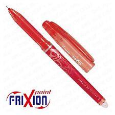 PILOT FRIXION 0.5 mm Medio Punta CANCELLABILE Roller sfera gel inchiostro Penna Frizione Rosso